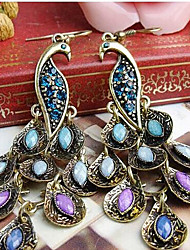 Earring Drop Earrings Jewelry Women Alloy / Cubic Zirconia 2pcs Silver / Blue