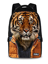 FOR U DESIGNS Unisex Tiger Imitation Show Polyester Sports Laptop Backpacks