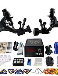 Solong Tattoo Beginner Tattoo Kit 2 Pro Rotary Tattoo Machine s Power Supply Needle Grips Tips