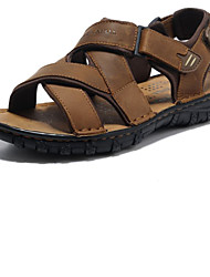 Men's Shoes Outdoor/Office & Career/Casual Leather Sandals Khaki