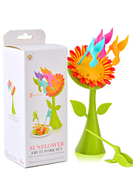 Sunflower and Birds Food Pick Fruit Dessert Bird Forks Kitchen Gadget