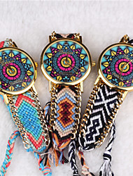 Bohemian Style Women'S Vintage Watches Sun Pattern Hand-Woven Watches Students Watch Cool Watches Unique Watches