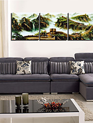 VISUAL STAR®Chinese Style Landscape Canvas Painting Three Panels High Quality Canvas Ready to Hang