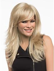 Long Straight Hair European Weave Light Blonde Hair Wig