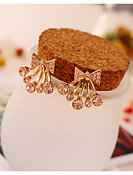 The Korean Version The Butterfly Drill Festoons Fashion Stud Earrings Cute Gold Plated/Gemstone & Crystal Stud Earrings