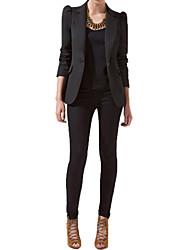 Women's Work Shoulder Pad Medium Long Sleeve Fashion Blazer