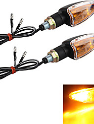 Motorcycle Amber Turn Signal Light Bulb Indicator (2 Pcs)