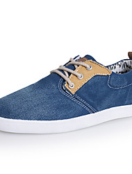 Men's Shoes Casual Canvas Oxfords Yellow/Blue