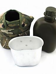 aluminium pratique de la mode / us haut polymère / nylon bouilloire boîte de déjeuner en plein air / camping (sac de camouflage aléatoire)