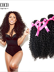 "Hot New Products For 2015 8""-30"" Kinky Curly For Black Women Brazilian Virgin Hair Weave"