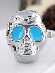 Fashion Round Shaped Quartz Tinless Steel Cover Ghost Head Strap Ring Watch(4 Colors) (1Pc)