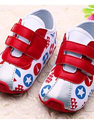 Zapatos de bebé - Sneakers a la Moda - Casual - Semicuero - Azul / Rojo