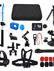 ourspop kit gp-k01-15 em uma acessórios para GoPro Hero 4 hero3 + câmera hero3