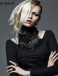 PUNK RAVE S-149 Gothic Palace Asymmetric Accessories Fake Shirt Collar