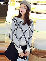 Women's Casual/Cute Stretchy Medium Long Sleeve Pullover (Knitwear) SF7B33