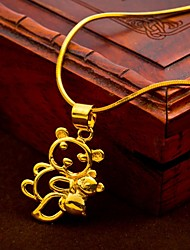 24K gold plating  Hollow Bear Pendant(not including necklace)