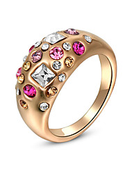 Vintage/Party Gold Plated/Alloy/Western Style Fashion Elegant Cubic Zirconia Statement Ring