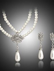 Damen Schmuckset Modeschmuck Perle Halsketten Ohrringe Für Hochzeit Party Geburtstag Verlobung Alltag Normal Hochzeitsgeschenke