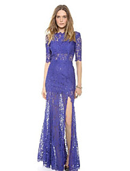 MDAL     Women's Vintage Round ½ Length Sleeve Dresses (Lace)