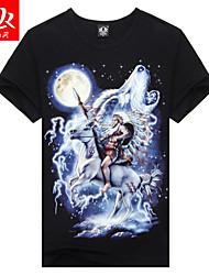 Men's Foreign Trade Short-sleeved T-shirt Men's Sports T-shirts (Cotton/Lycra)