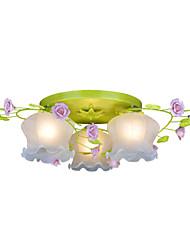 BOXOMIYA® Creative Lamp Lamp Warm Garden Restaurant Rose Three Simple Bedroom Ceiling Lamps
