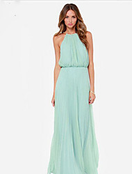 Women's Straps Dresses , Cotton Casual/Work Sleeveless OoLl