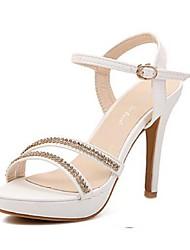 Women's Shoes Stiletto Heel Open Toe Sandals Casual Black/White