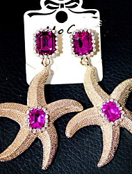 """New Arrival Hot Selling High Quality Rhinestone Gem Fishstar Earrings"""