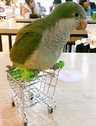 FUN OF PETS®Creative Mini Supermarket Shopping Cart Bird Toy for Birds (Random Colour)