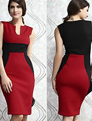 Informell V-Ausschnitt - Ärmellos - FRAUEN - Kleider ( Baumwolle )