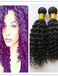 3pcs / lot brésilien trame de cheveux bouclés tisse afrique cheveux crépus vierge non transformés brésiliens faisceaux de cheveux vierges