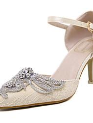 Women's Shoes Synthetic Stiletto Heel Heels Sandals Casual Black/Yellow
