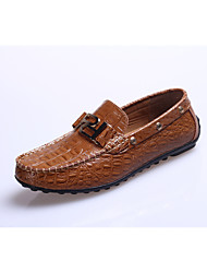 Men's Shoes Round Toe Low Heel Calf Hair Loafers Casual Shoes More Colors available