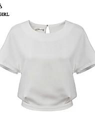 LIVAGIRL®Women's T-shirt Fashion Sexy Bare Midriff Top Chiffon Shirt Europe Style Hot Lady's Casual Top Under Shirt