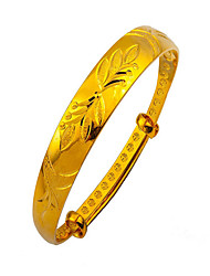 24k pulsera de oro chapado (single)