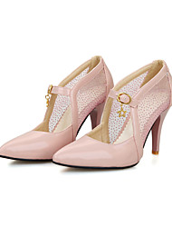 Women's Heels Spring Summer Fall Comfort Ankle Strap Tulle PU Office & Career Casual Party & Evening Stiletto Heel Buckle Split Joint