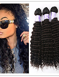 3Pcs/Lot Brazilian Deep Wave Curly Virgin Hair Extension Unprocessed Virgin Human Hair Wefts Wholesale