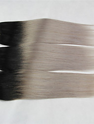 "3 Pcs/Lot+10""-18""+Indian (Italian) Virgin Hair+ color(1b/gray)+Straight.."
