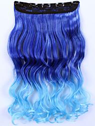 24inch 60 centímetros 120g clipe de senhora »grils em extensões do cabelo pedaços de cabelo sintético ombre destaque estilo peruca