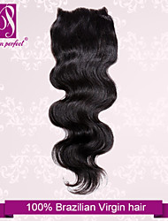 "10""-20"" Brazilian Hair Lace Closure Body Wave Size 4""x3"" Inch Human Hair Lace Top Closures"