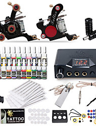 Dragonhawk® Complete Tattoo Kit 2 Machine  20 Color Inks Power Supply
