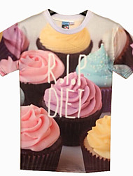 Informeel/Zakelijk Rond - MEN - T-shirts ( Katoenmengeling )met Korte Mouw