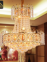 Modern LED Pendant Lights With K9 Lustres Crystal And Gold Color For Dining Room Lighting (928)
