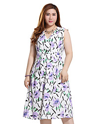 Prettyshow 2015 Summer New Style Oversize Lady V-neck Irregular Cute Shivering Summer Dress Q7286