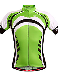 WOSAWE Men's Summer Sport Jersey Bike Cycling Bicycle Quick Dry Top Breathable full length zipper Short Sleeve Shirt