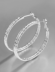 Promotion Sale 2015 Italy Style Silver Plated Africa Design Hoop Earrings Fashion Brand Jewelry for Women