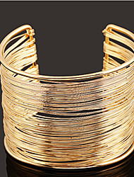Lucky Doll Women's All Matching Gold Cut Out Open Bracelet