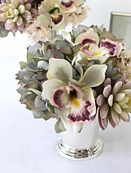 # B # dessin imaginaire européen simulation hortensia charnue paquet / peinture fleurs rétro simulation / modèle de chambre