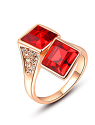 Z&X® Europe Style Square Crystal Statement Rings Wedding/Party/Daily