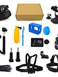 ourspop kit gp-K04-13-em uma acessórios para GoPro Hero 4 hero3 + câmera hero3